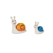 Set/2 Snail Family for Merriment Mini Fairy Gardening