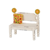 Flower Post Bench for Merriment Mini Fairy Gardening