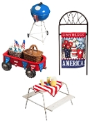 Set 4/Americana Camp Set for Miniature Fairy Gardens - EXCLUSIVE