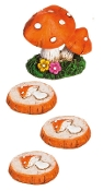 Mushroom Accessory Set for Miniature Fairy Gardens - EXCLUSIVE