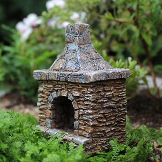 Outdoor Chimney and Fireplace for Miniature Fairy Gardens