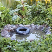 Swimming Hole with Tire For Miniature Fairy Gardens