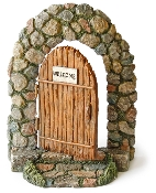 "6"" Cobblestone Fairy Door For Miniature Gardens"