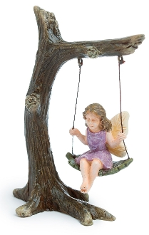 Addie on Tree Swing For Miniature Fairy Gardens