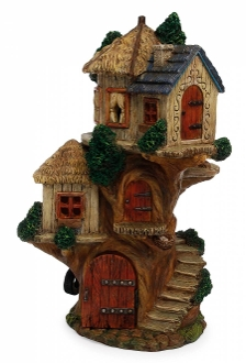 "13.5"" Tiered Treehouse For Miniature Fairy Gardens"