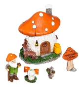 Mushroom Meadow Set for Miniature Gardens - EXCLUSIVE