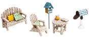 5 Pc Garden Furniture Set for Miniature Gardens - EXCLUSIVE