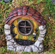 Round Cottage Fairy Door for Fairy Gardens