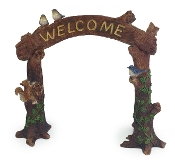 Woodland Critters Welcome Arch For Miniature Fairy Gardens
