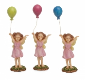 A Fairy Balloon Parade (Set/3)  For Miniature Fairy Gardens