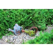 Set of 2 Fairy Watering Cans For Miniature Gardens