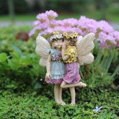 Kennedy and Megan the Fairies For Miniature Gardens
