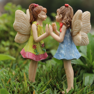 Andrea and Amanda the Fairies For Miniature Gardens