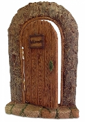 "12"" XL Tall Bark Fairy Door For Miniature Gardens"