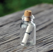 Message In A Bottle *Wish Bottle* for Miniature Fairy Gardens