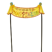 CHOOSE HAPPINESS Banner for Merriment Mini Fairy Gardening