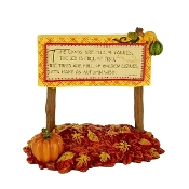 Autumn Fairy Sign for Merriment Mini Fairy Gardening
