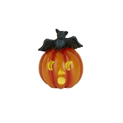 Jack O Lantern with Bat for Merriment Mini Fairy Gardening