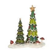 Christmas Tree Landscape for Merriment Mini Fairy Gardening