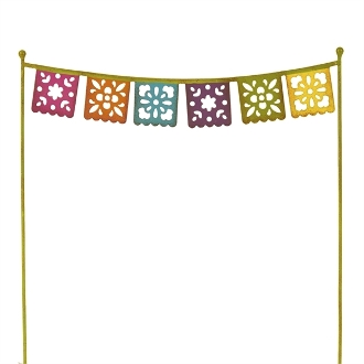 Fiesta Flag Banner for Miniature Gypsy Fairy Gardens