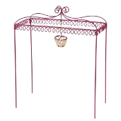 Pink Iron Gazebo for Miniature Gypsy Fairy Gardens