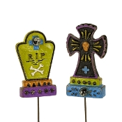 Set/2 Tombstones for Miniature Gypsy Fairy Gardens