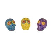 Set/3 Fairy Sugarskulls for Miniature Gypsy Fairy Gardens