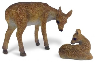Deer and Fawn For Miniature Gardens