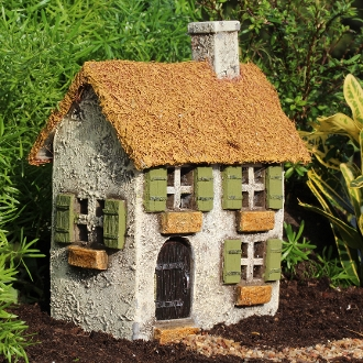 Thatched Charles Place House For Miniature Fairy Gardens