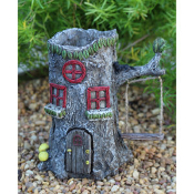 Fairy Stump House with Planter Top For Miniature Fairy Gardens