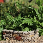"5"" Limestone Cobblestone Wall for Miniature Fairy Gardens"