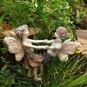"Issac and Ivy ""Ring Around the Rosie"" for Mini Fairy Gardens"