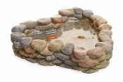 Cobblestone Koi Pond for Miniature Fairy Gardens