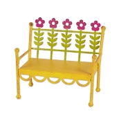 Yellow Flower Bench for Gypsy Fairy Gardens