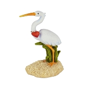 Sand Crane with Heart for Merriment Mini Fairy Gardening
