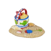Beach Pail Scene for Merriment Mini Fairy Gardening