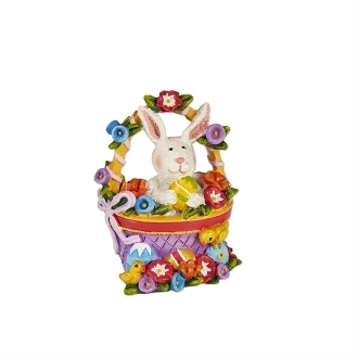 Easter Basket with Bunny for Merriment Mini Fairy Gardening
