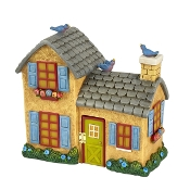 Yellow Solar House for Merriment Mini Fairy Gardening