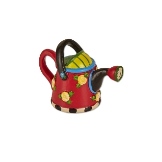 Red Watering Can for Merriment Mini Fairy Gardening