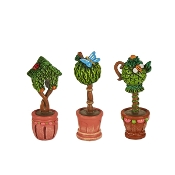 Set/3 Topiaries for Merriment Mini Fairy Gardening