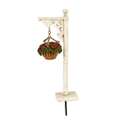 Hanging Flower Basket on Stand for Merriment Fairy Gardening