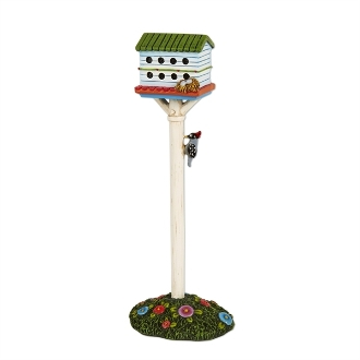 Birdhouse with Woodpecker for Merriment Mini Fairy Gardening
