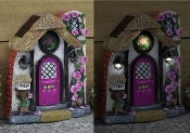 Briar Rose Solar Fairy Door for Miniature Fairy Gardens