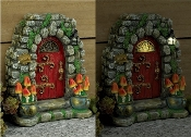 Mushroom Meadow Solar Fairy Door for Miniature Fairy Gardens