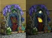 Papillon Solar Fairy Door for Miniature Fairy Gardens