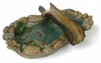 Tree Bridge Pond with Koi For Miniature Fairy Gardens