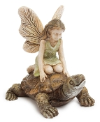 Racing Tortoise with Mary For Miniature Fairy Gardens