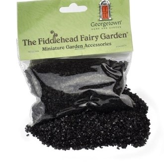 Black Fairy Glass for Landscaping Miniature Fairy Gardens-8.5 oz