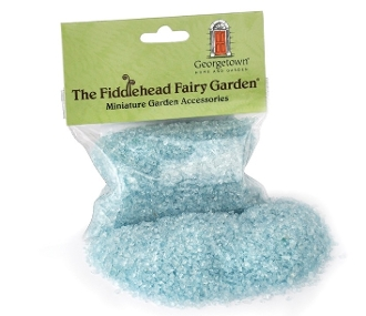 Blue Fairy Glass for Landscaping Miniature Fairy Gardens-8.5 oz