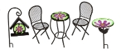 5 Piece Garden Bistro Set for Miniature Fairy Garden - EXCLUSIVE